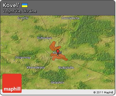 Free Satellite 3D Map of Kovel