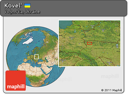Free Satellite Location Map of Kovel
