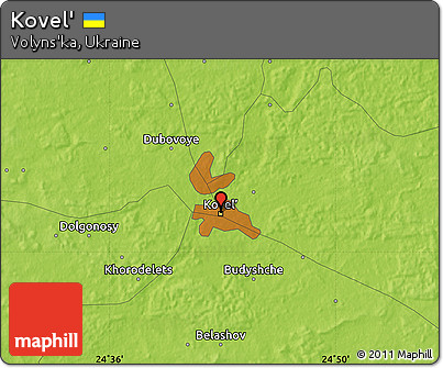 Free Physical Map of Kovel