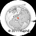 Outline Map of Pryp'yat', rectangular outline