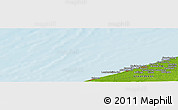 """Physical Panoramic Map of the area around 51°19'36""""N,2°37'30""""E"""