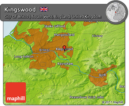 Free Physical Map of Kingswood