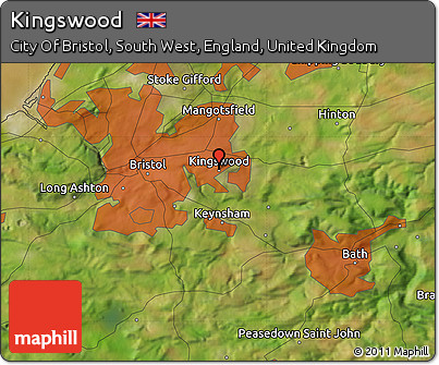 Free Satellite Map of Kingswood