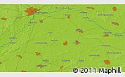 Physical 3D Map of Kiyenka