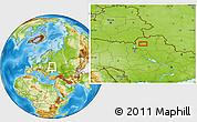 Physical Location Map of Kiyenka