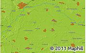 Physical Map of Kiyenka
