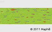 Physical Panoramic Map of Kiyenka
