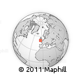 """Outline Map of the Area around 51° 19' 36"""" N, 5° 52' 30"""" W, rectangular outline"""