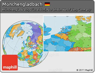 Political Location Map of Mönchengladbach
