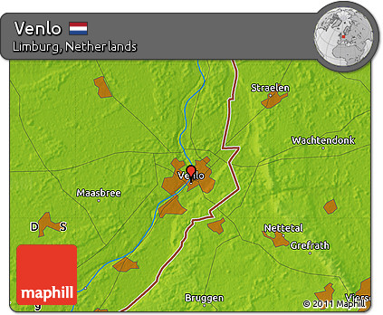 Free Physical Map of Venlo