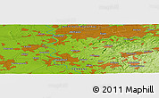 Physical Panoramic Map of Mettmann