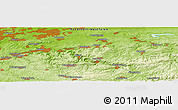 Physical Panoramic Map of Arnsberg