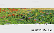 Satellite Panoramic Map of Ainkhausen