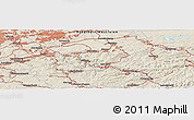 Shaded Relief Panoramic Map of Witten