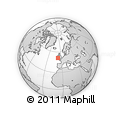 """Outline Map of the Area around 51° 19' 36"""" N, 7° 34' 30"""" W, rectangular outline"""