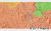 Political 3D Map of Kassel