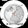 Outline Map of Kassel, rectangular outline