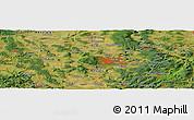 Satellite Panoramic Map of Kassel
