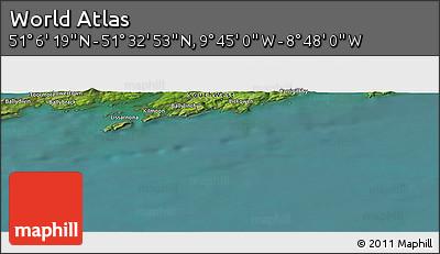 "Satellite Panoramic Map of the Area around 51°19'36""N,9°16'30""W"