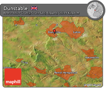 Free Satellite Map of Dunstable
