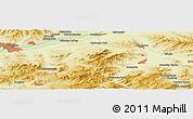 Physical Panoramic Map of Ulan-Ude