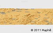 Political Panoramic Map of Ulan-Ude