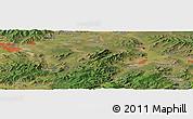 Satellite Panoramic Map of Ulan-Ude