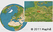 """Satellite Location Map of the area around 51°43'18""""N,10°16'30""""E"""