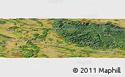 Satellite Panoramic Map of Göttingen