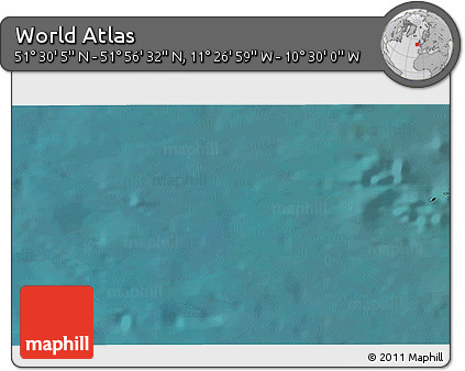 """Satellite 3D Map of the Area around 51°43'18""""N,10°58'29""""W"""