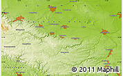 """Physical Map of the area around 51°43'18""""N,11°7'30""""E"""