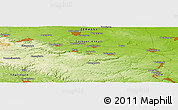 """Physical Panoramic Map of the area around 51°43'18""""N,11°7'30""""E"""