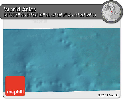 """Satellite 3D Map of the Area around 51°43'18""""N,11°49'29""""W"""