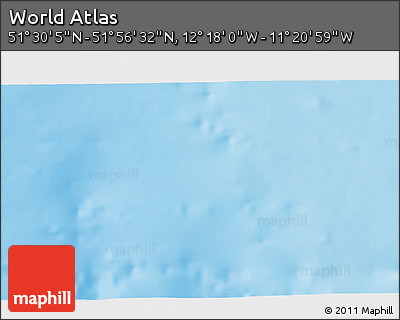 """Shaded Relief 3D Map of the Area around 51°43'18""""N,11°49'29""""W"""