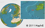 """Satellite Location Map of the area around 51°43'18""""N,11°49'29""""W"""