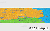 """Political Panoramic Map of the area around 51°43'18""""N,12°49'29""""E"""