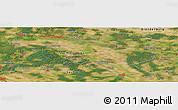 "Satellite Panoramic Map of the area around 51°43'18""N,12°49'29""E"