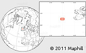 """Blank Location Map of the area around 51°43'18""""N,13°31'30""""W"""