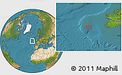 """Satellite Location Map of the area around 51°43'18""""N,13°31'30""""W"""
