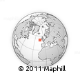 """Outline Map of the Area around 51° 43' 18"""" N, 13° 31' 30"""" W, rectangular outline"""