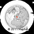 Outline Map of Cottbus, rectangular outline