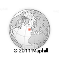 """Outline Map of the Area around 51° 43' 18"""" N, 14° 22' 30"""" W, rectangular outline"""