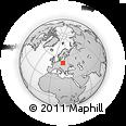 Outline Map of Hamentów, rectangular outline