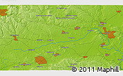 """Physical 3D Map of the area around 51°43'18""""N,1°37'30""""W"""