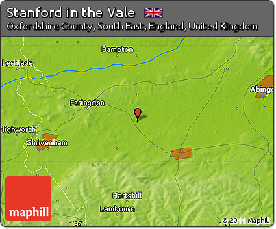 Free Physical Map of Stanford In the Vale