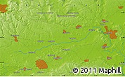 """Physical Map of the area around 51°43'18""""N,1°37'30""""W"""