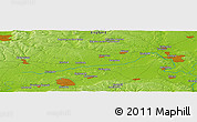 """Physical Panoramic Map of the area around 51°43'18""""N,1°37'30""""W"""