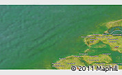 """Satellite 3D Map of the area around 51°43'18""""N,3°28'30""""E"""