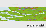 Physical Panoramic Map of Blankenburg