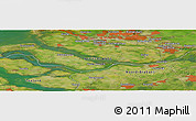 Satellite Panoramic Map of Blankenburg